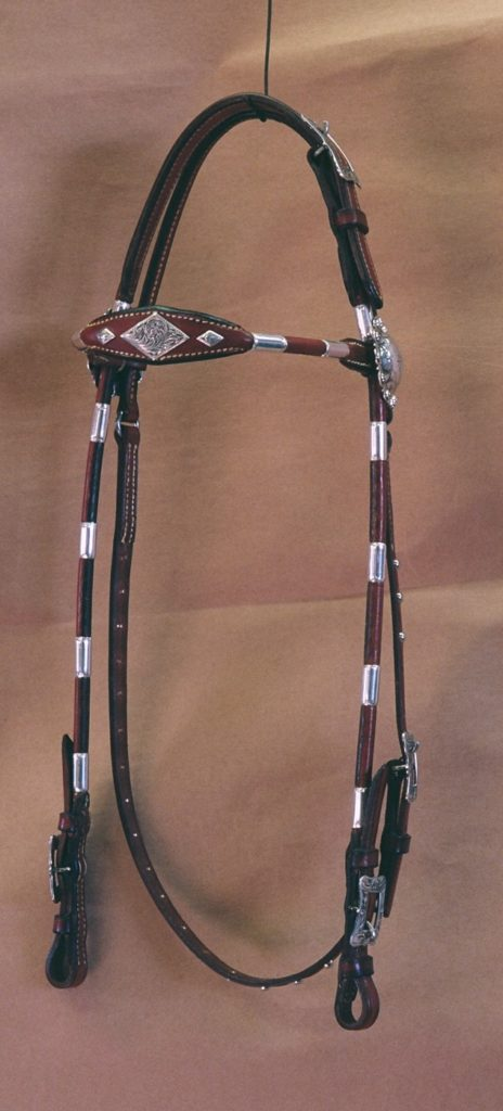 LR614 Browband Rolled Round Headstall